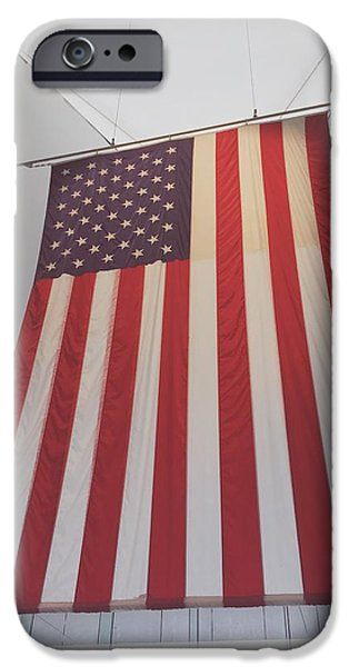 Flag iPhone Cases - American Flag iPhone Case by Laura Ledbetter