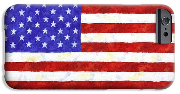 Recently Sold -  - 4th July iPhone Cases - American Flag iPhone Case by Linda Mears