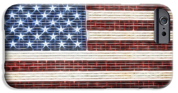 Nation iPhone Cases - American Flag USA   iPhone Case by Terry DeLuco