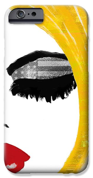 Beautiful Girl iPhone Cases - American Girl iPhone Case by Mindy Sommers