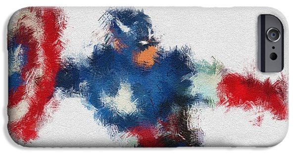 Character Portraits Digital Art iPhone Cases - American Hero 2 iPhone Case by Miranda Sether