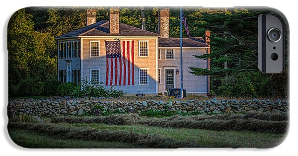 July iPhone Cases - American Home iPhone Case by Black Brook Photography