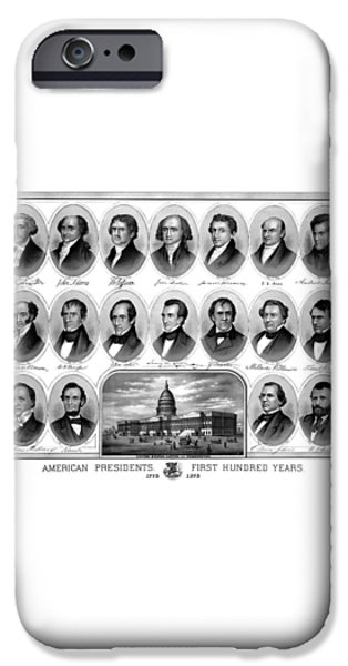 American Presidents First Hundred Years iPhone Case by War Is Hell Store