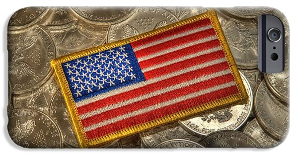 United States iPhone Cases - American Pride iPhone Case by Twain and Denise Wilkins