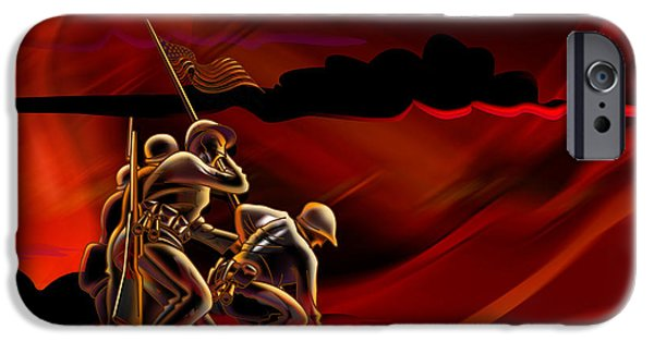 Wwi iPhone Cases - American Soldiers iPhone Case by Bedros Awak