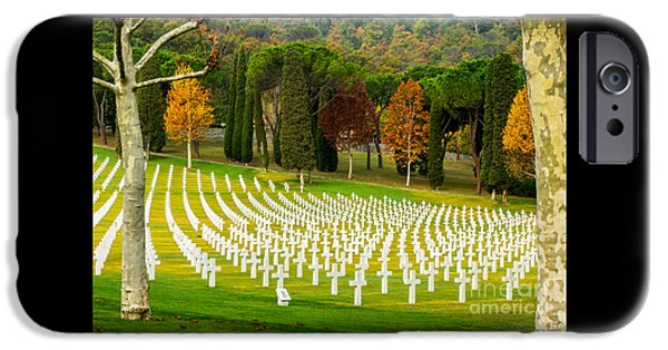 Charly iPhone Cases - American WW II Cemetery iPhone Case by Prints of Italy