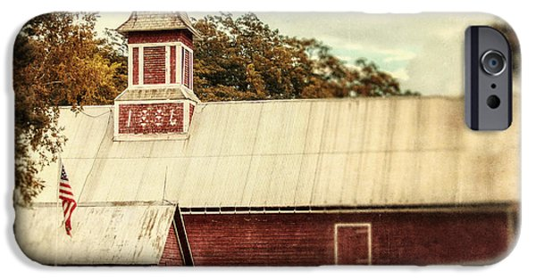 Weathervane Photographs iPhone Cases - Americana Barn iPhone Case by Lisa Russo