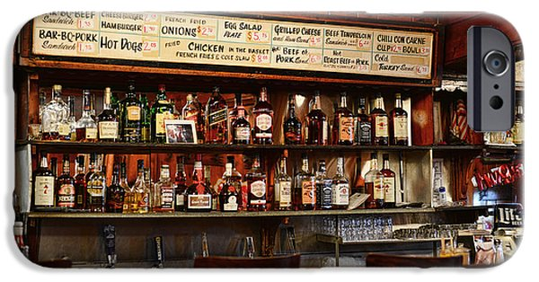 Friends Meeting iPhone Cases - Americana - The Old Man Bar iPhone Case by Paul Ward