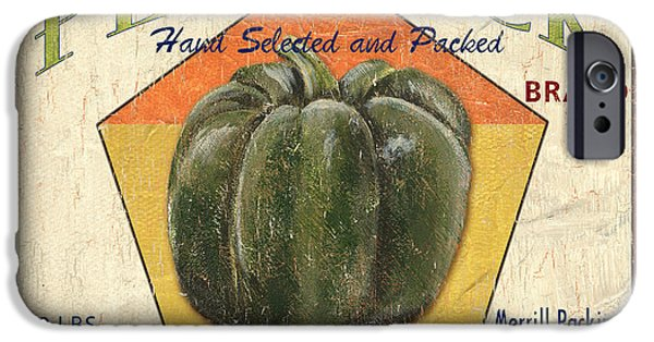 Sign iPhone Cases - Americana Vegetables 1 iPhone Case by Debbie DeWitt