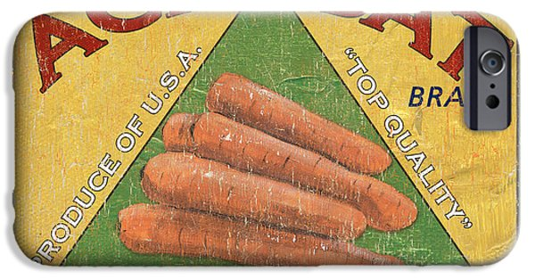 Sign iPhone Cases - Americana Vegetables 2 iPhone Case by Debbie DeWitt