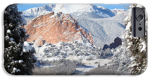 Cathedral Rock iPhone Cases - Americas Mountain iPhone Case by Eric Glaser