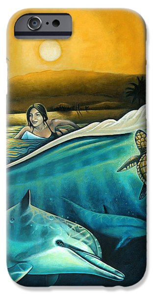 Ocean Turtle Paintings iPhone Cases - Amigos del Mar iPhone Case by Nathan Miller