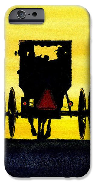 Amish Buggy at Dusk iPhone Case by Michael Vigliotti