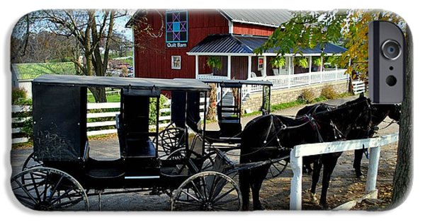 Amish Community iPhone Cases - Amish Country Horse and Buggy iPhone Case by Frozen in Time Fine Art Photography