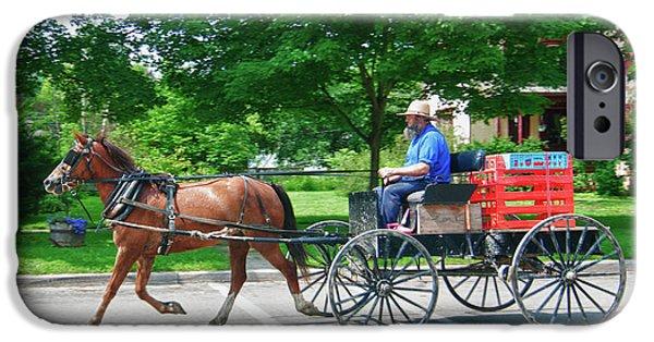 Amish Photographs iPhone Cases - Amish Merchant 5671 iPhone Case by Guy Whiteley