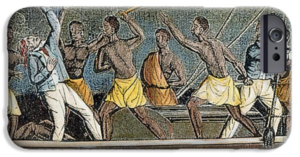 1839 iPhone Cases - Amistad Slave Mutiny, 1839 iPhone Case by Granger