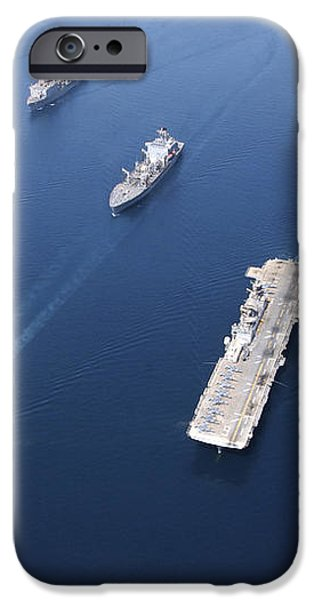 Amphibious Task Force-west In Formation iPhone Case by Stocktrek Images