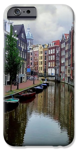 Nederland iPhone Cases - Amsterdam iPhone Case by Heather Applegate