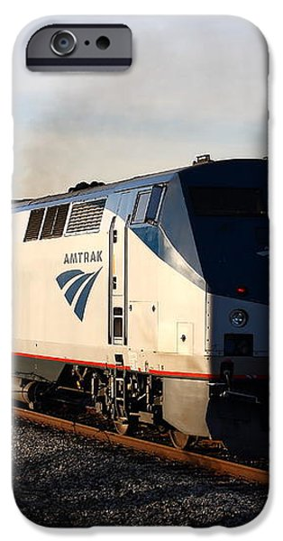 Amtrak Trains at The Niles Canyon Railway In Historic Niles District California . 7D10856 iPhone Case by Wingsdomain Art and Photography