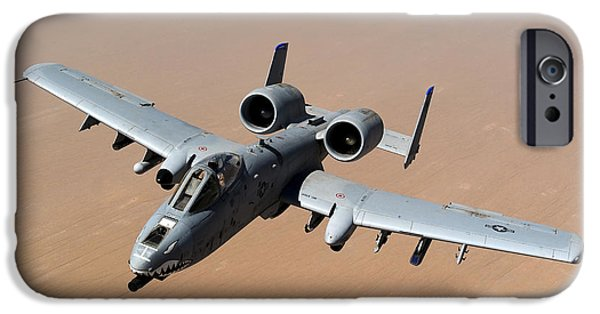 Air Force One iPhone Cases - An A-10 Thunderbolt Ii Over The Skies iPhone Case by Stocktrek Images