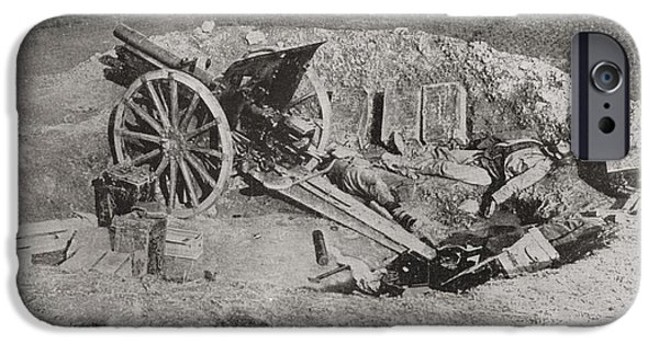 Ww1 iPhone Cases - An Abandoned Field Gun Of The Austrian iPhone Case by Vintage Design Pics