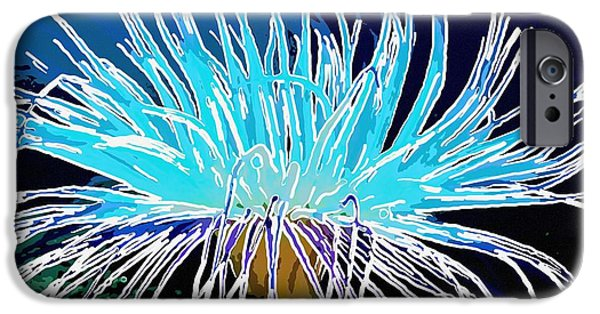 Granulatus iPhone Cases - An abstract scene of sea anemone 1 iPhone Case by Lanjee Chee