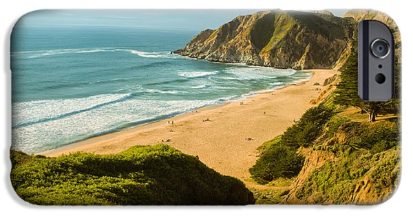 Town iPhone Cases - An Afternoon at the Beach iPhone Case by Bryant Coffey