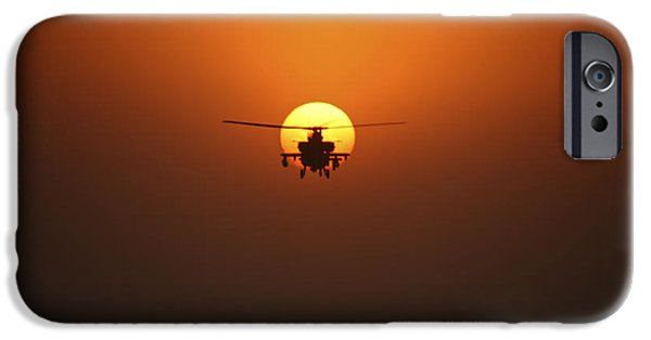 Iraq iPhone Cases - An Ah-64d Apache Helicopter Flying iPhone Case by Terry Moore