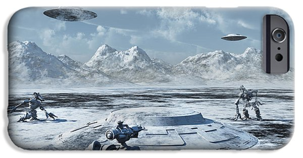 Virtual iPhone Cases - An Alien Base Located In The Antarctic iPhone Case by Mark Stevenson