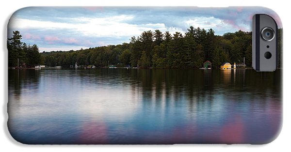 David iPhone Cases - An Amazing Sunset on Old Forge Pond iPhone Case by David Patterson