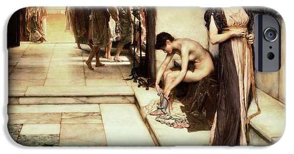 History iPhone Cases - An Apodyterium iPhone Case by Sir Lawrence Alma-Tadema