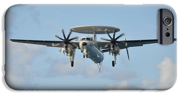 Enterprise Paintings iPhone Cases - An E-2 Hawkeye  iPhone Case by Celestial Images
