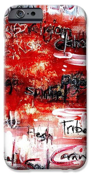 Street Mixed Media iPhone Cases - An Erotic Poem - art and words iPhone Case by Carolyn Weltman