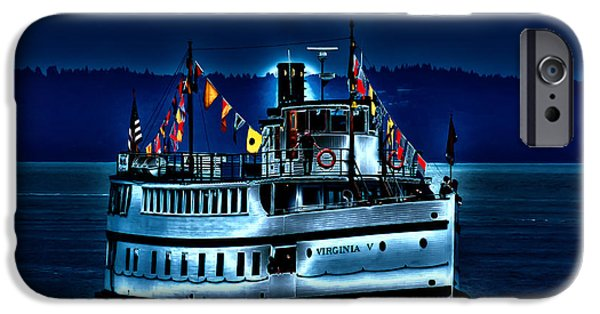 Tall Ship iPhone Cases - An Evening on the Virginia V iPhone Case by David Patterson