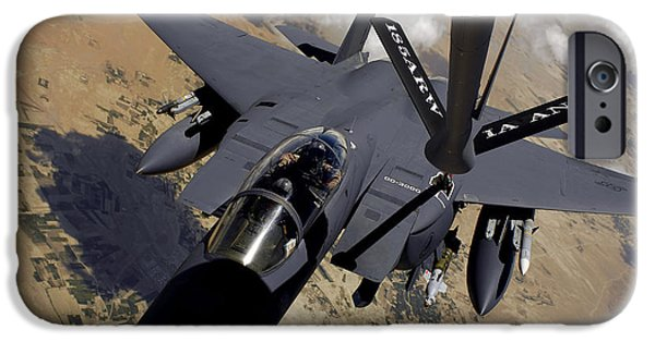 Mechanism iPhone Cases - An F-15 Strike Eagle Prepares iPhone Case by Stocktrek Images