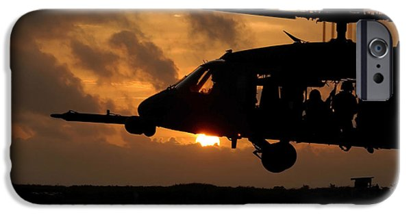 Adults Only iPhone Cases - An Hh-60g Pave Hawk Helicopter Prepares iPhone Case by Stocktrek Images