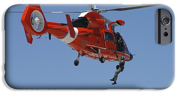 Law Enforcement iPhone Cases - An Hh-65c Dolphin Demonstrates iPhone Case by Stocktrek Images