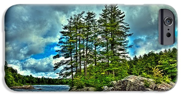 Summer iPhone Cases - An Island on the Moose River iPhone Case by David Patterson