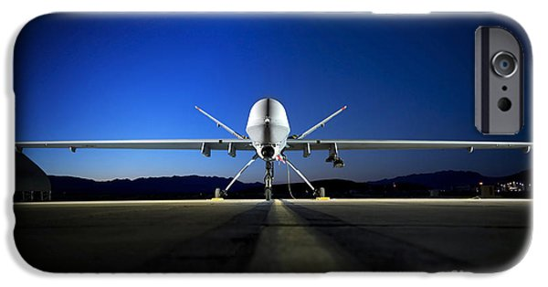 Aeronautics iPhone Cases - An Mq-9 Reaper Sits On The Flightline iPhone Case by Stocktrek Images