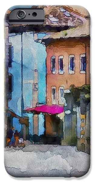Fantastic Gifts iPhone Cases - An Old Street in Europe iPhone Case by Yury Malkov