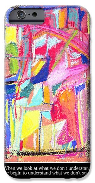 Abstract Expressionism iPhone Cases - An Understanding iPhone Case by Nina Tyksinski