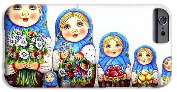 Christmas Sculptures iPhone Cases - Anastasia With A Bouquet  iPhone Case by Viktoriya Sirris