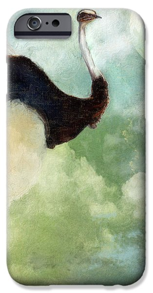 Ostrich iPhone Cases - Anastasias Ostrich iPhone Case by Mindy Sommers