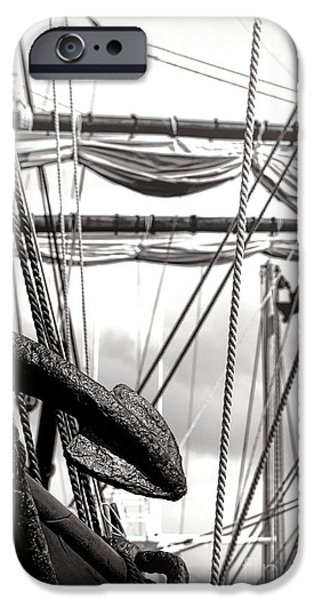 Tall Ship iPhone Cases - Anchor iPhone Case by Olivier Le Queinec