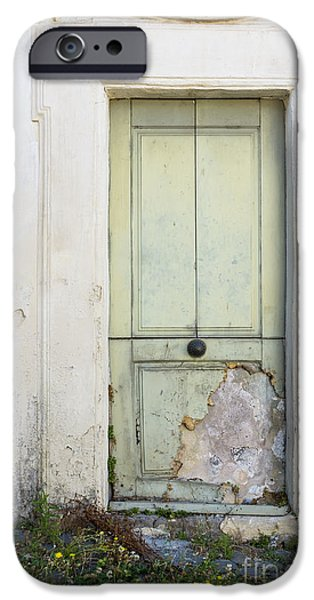 Plaster iPhone Cases - Ancient Door Rome Italy iPhone Case by Edward Fielding
