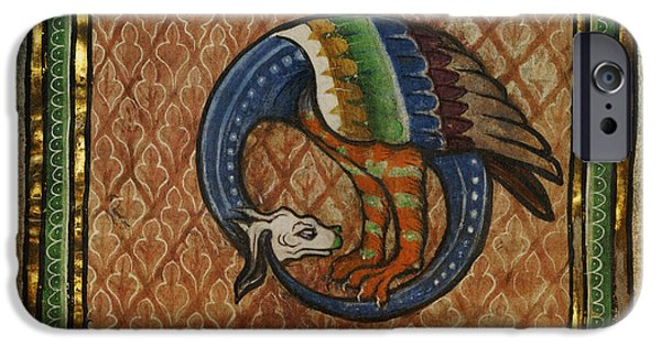 Serpent Mixed Media iPhone Cases - Ancient Dragon Celtic Art iPhone Case by Terry Fleckney