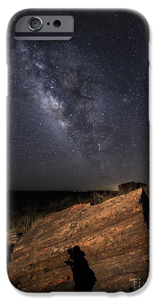 Petrified Forest Arizona iPhone Cases - Ancient History iPhone Case by Melany Sarafis