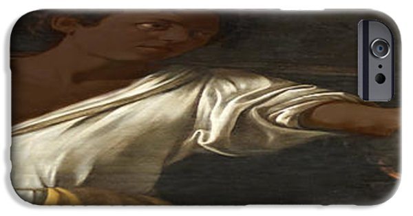 Gut iPhone Cases - Ancient Human Instinct iPhone Case by David Bridburg