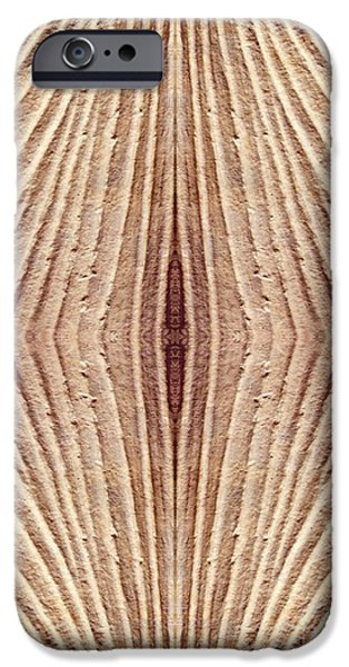 Abstract Digital iPhone Cases - Ancient Lines 4 iPhone Case by Sarah Loft