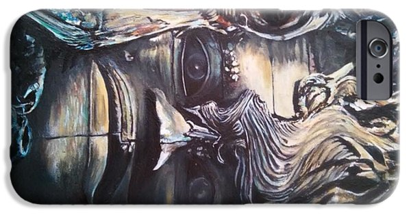 Strange Sculptures iPhone Cases - Ancient Souls iPhone Case by John Balestrino
